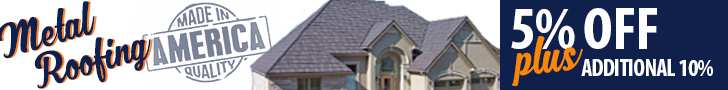 15% off Metal Roofing