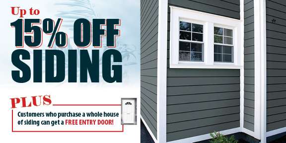 15% off Siding at Appleby Systems in Pennsylvania