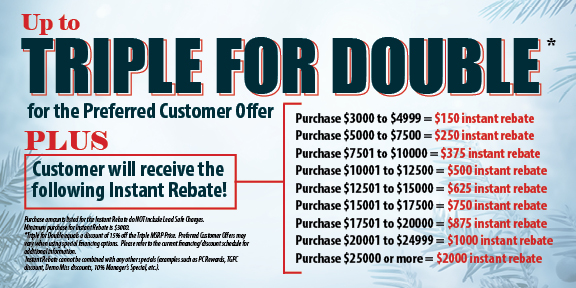 Special Offer Triple for Double by Appleby Systems in Pennsylvania